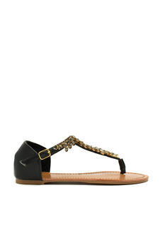 Almond Or Nothing Jeweled Sandals