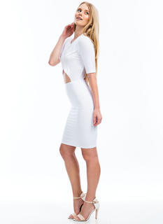 Cross Your Heart Cut-Out Bodycon Dress
