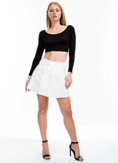 As If High Shine Skater Skirt