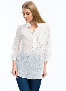 Read My Polka Face Dotted Blouse