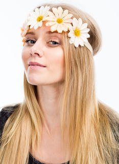 Overlapping Daisies Nylon Headband