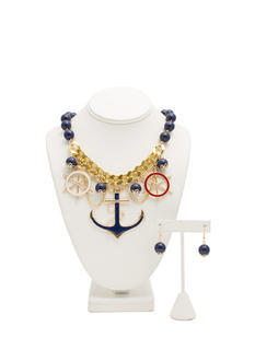 Nautical Charm Necklace Set