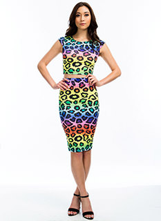 True Colors Leopard Pencil Skirt