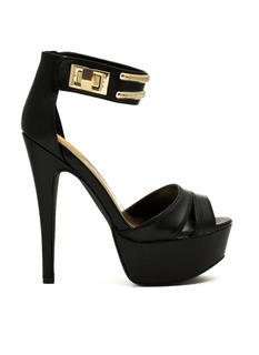 So Fancy Twist Lock Stiletto Heels