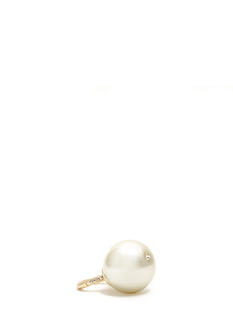 Oversized Faux Pearl Stretchy Ring
