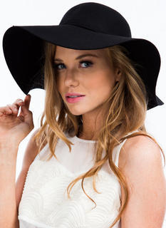 Tied Ribbon Floppy Wool Hat