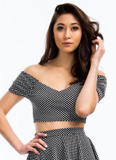 Spotted In Dots Cropped Top