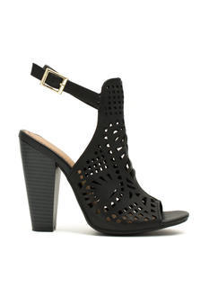 Caged Laser Cut-Out Heels