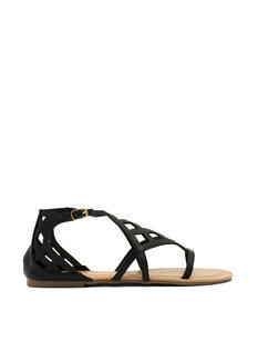 Be A Square Laser Cut-Out Sandals