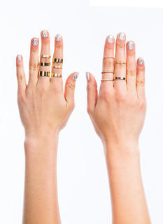 Metallic Coated Ring Set
