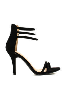 It's A Strap Faux Nubuck Heels