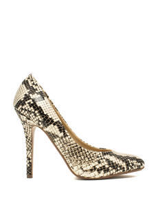 Pump It Up Faux Leather Snake Heels