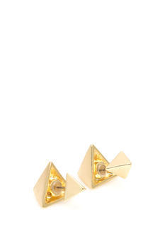 Two Pyramids Faux Plug Earrings