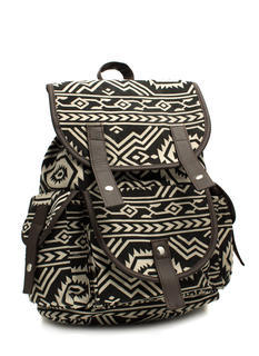 Canvas Tribal Drawstring Backpack