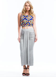 In Drape Demand Gathered Maxi Skirt