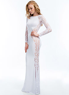 Lace Is More Hourglass Mermaid Maxi