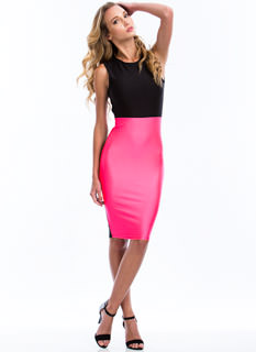 Colorblock My World Bodycon Dress