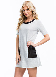 Pocket Scientist Quilted Shirt Dress