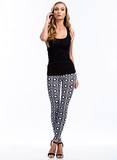 Diamond Geo Print Leggings