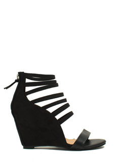 Strappy Hour Mixed Media Wedges