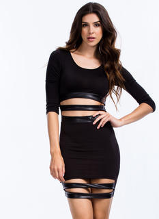 Slits Of Skin Bodycon Dress
