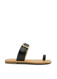 Single Life Buckled Sandals