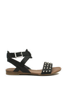 Hey Stud Strappy Textured Sandals