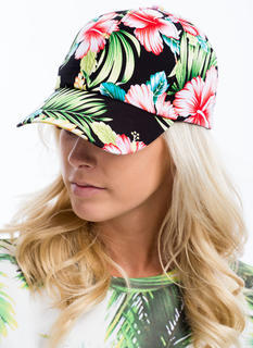 Tropical Flowers And Foliage Cap