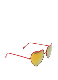 Heart-Shaped Wire Frame Sunglasses