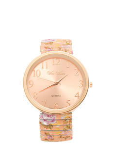 Stretchy Oversized Floral Band Watch