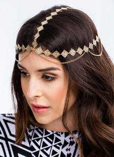 Strands Of Filigree Head Chain