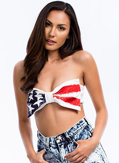 Stars 'N Stripes Bow Bandeau Top