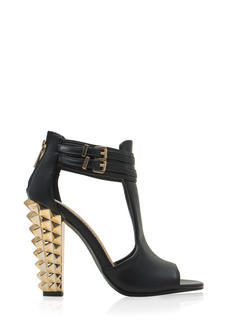 Rock This Way Spiky Cut-Out Heels