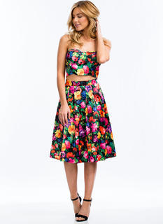 Garden Soiree Pleated Skirt