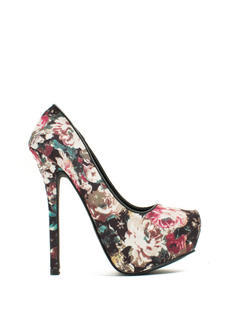 Make A Statement Printed Platform Heels