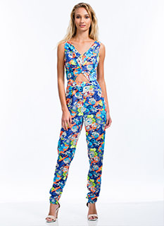 Floral Poetry Cut-Out Jumpsuit