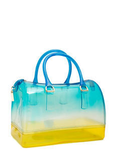 Two-Tone Jelly Bowler Bag