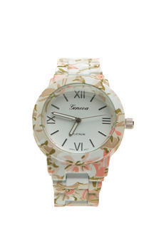 Patterned Coated Boyfriend Watch