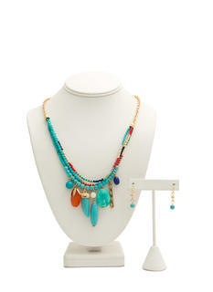 Tribal Talismans Beaded Necklace Set
