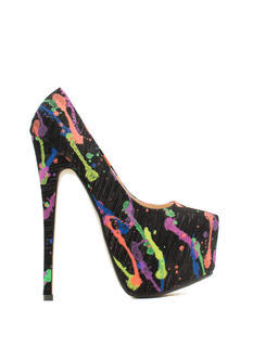 Mad Splatter Painted Print Platforms