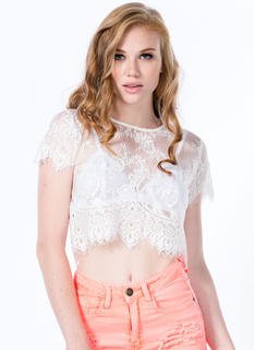 Sheer Hunter Lace Cropped Top