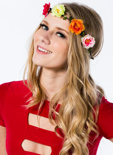 Floral Row Braided Headband