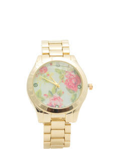 Floral Background Boyfriend Watch