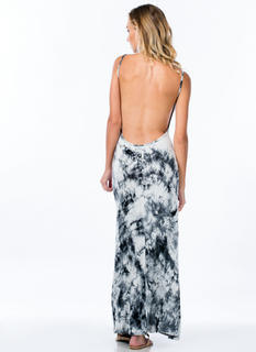It's Tie-Dye For Open Back Maxi Dress