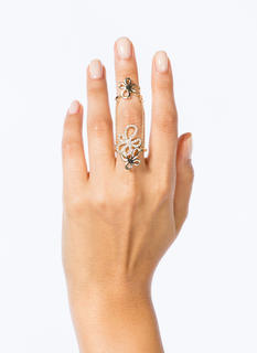 Cut-Out Floral Ring Duo