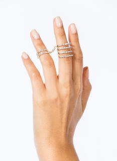Rhinestone Cut-Out Ring Duo