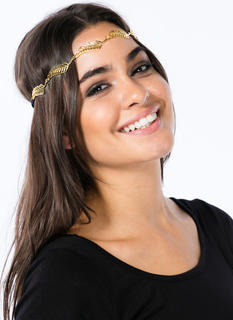 Metallic Cut-Out Leaf Headband