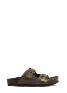 Not So Granola Faux Leather Slide Sandals