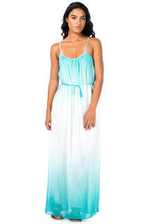 Dip-Dye Chiffon Maxi Dress