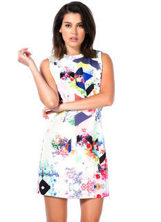 Garden Party Mixed Print Dress